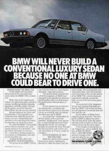 "Bmw 733i ""Never a Conventional Luxury Sedan"" (1978)"