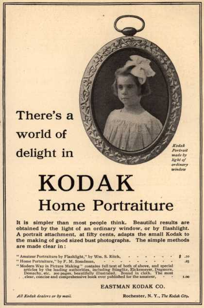 Kodak – There's a world of delight in Kodak Home Portraiture (1906)