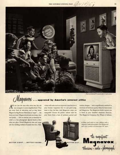 Magnavox Company's Television – Magnavox... approved by America's severest critics (1951)