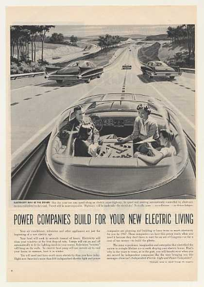 Futuristic Electric Car Super Highway Power Co (1957)