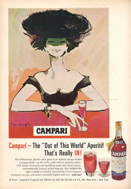 Campari Bottle Fashion Lady Art (1966)