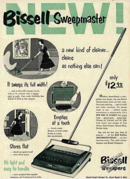 Bissell Sweepmaster $12.95 (1954)
