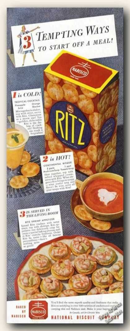 Ritz Crackers Nice Color (1942)