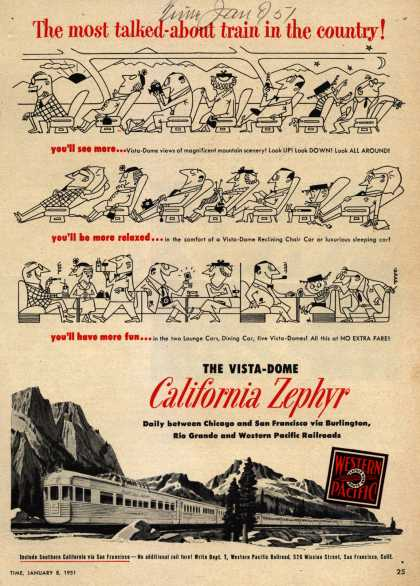 Western Pacific's California Zephyr – The most talked-about train in the country (1951)