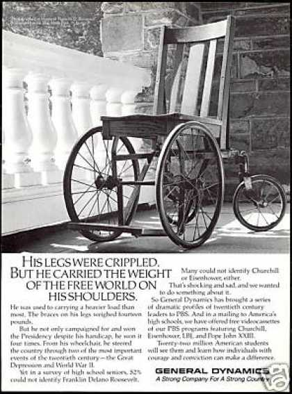 FDR Franklin Roosevelt Wheelchair GD Vintage (1988)