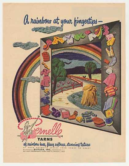 Pernelle Yarns Rainbow Hues Knit Fashion (1951)