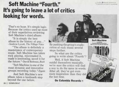Soft Machine Photo Fourth Album Promo (1971)