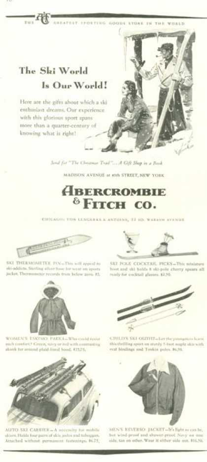 Abercrombie & Fitch Co Snow Ski Skiing (1938)