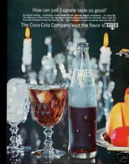 Tab Diet By Coke 1st Year Intro Bottle (1964)