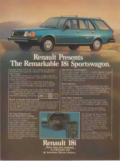 Renault 18i American Motors Car – The Sportswagon (1981)