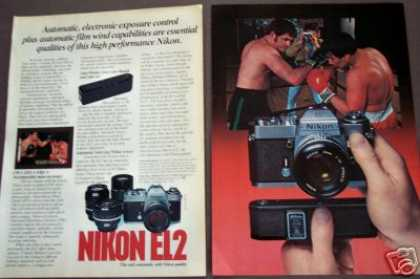 Nikon El2 35mm Slr Camera and Auto Winder (1978)