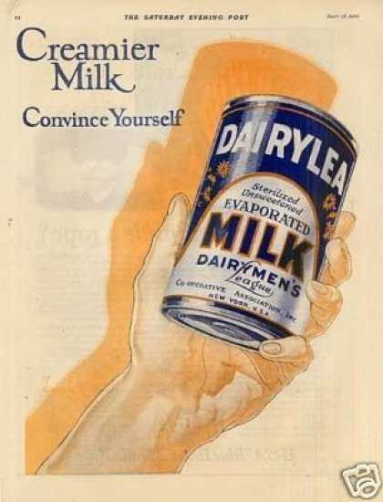 Dairylea Milk Color Ad 2 Page (1923)