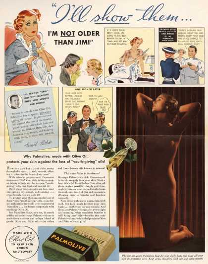 "Palmolive Company's Palmolive Soap – ""I'll show them... I'm Not Older Than Jim!"" (1936)"