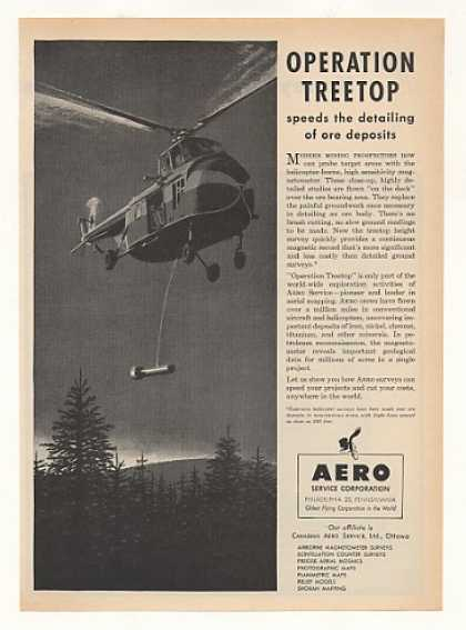 Aero Service Corp Helicopter Operation Treetop (1955)