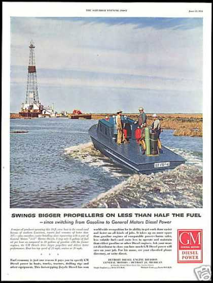 Louisiana Canals GM Diesel Power Engines (1954)