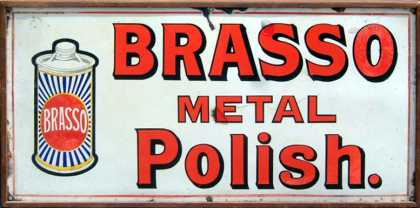 Brasso Metal Polish Sign