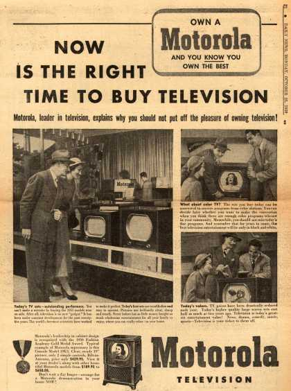 Motorola – Now Is The Right Time To Buy Television (1950)