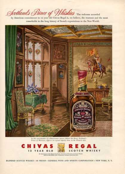 Chivas Regal Scotch Whisky Bottle (1956)