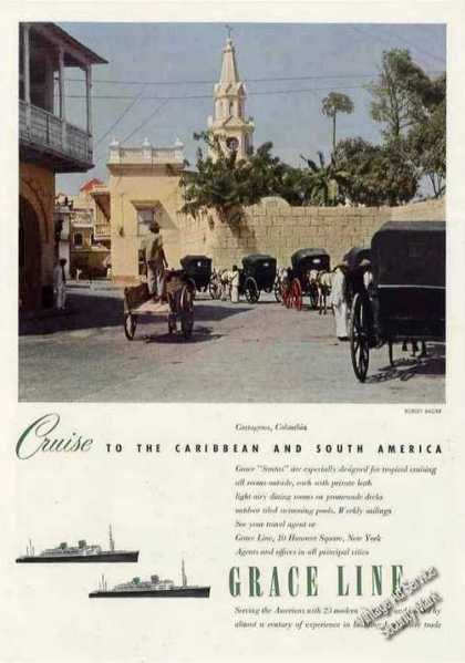 Cartagena Colombia Photo Grace Line Cruises (1951)