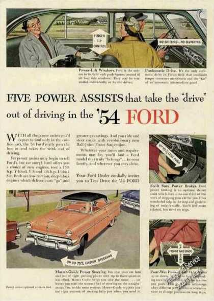 "Ford ""Five Power Assists"" Collectible Car (1954)"
