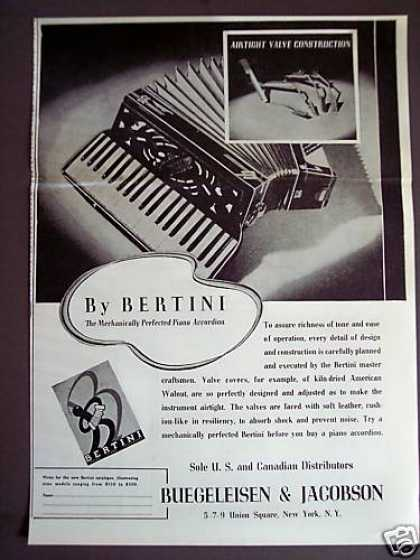 Bertini Accordion Music (1938)