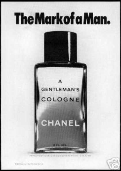 Chanel Gentleman's Cologne Bottle Photo (1969)