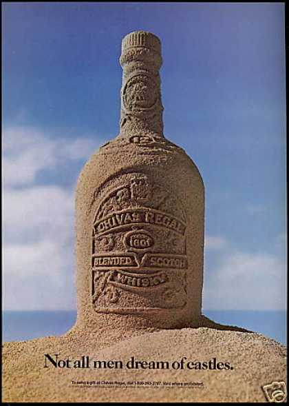 Chivas Regal Scotch Whisky Sand Bottle (1986)