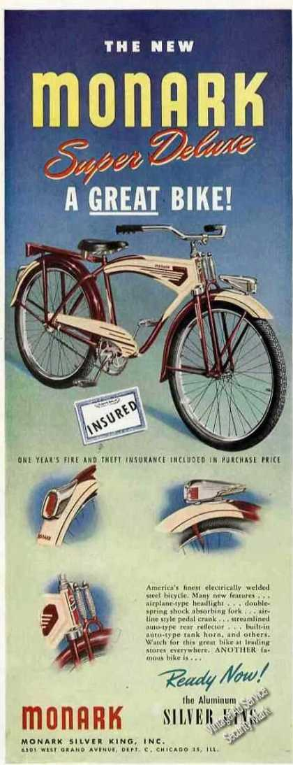 Monark Super Deluxe Bicycle Nice (1946)