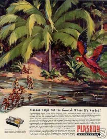 Wwii Plaskon Ad Armed Forces (1942)