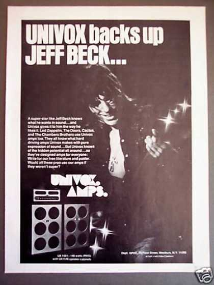 Jeff Beck Univox Amp Guitar Amplifier (1973)