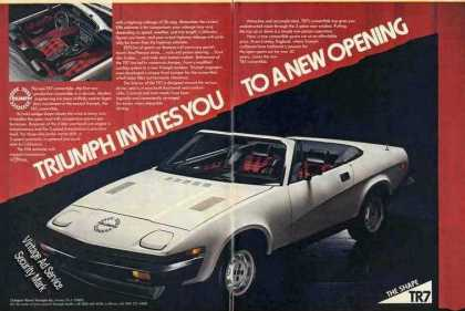 Triumph Tr7 Convertible Nice 2 Page Print Ad Car (1979)