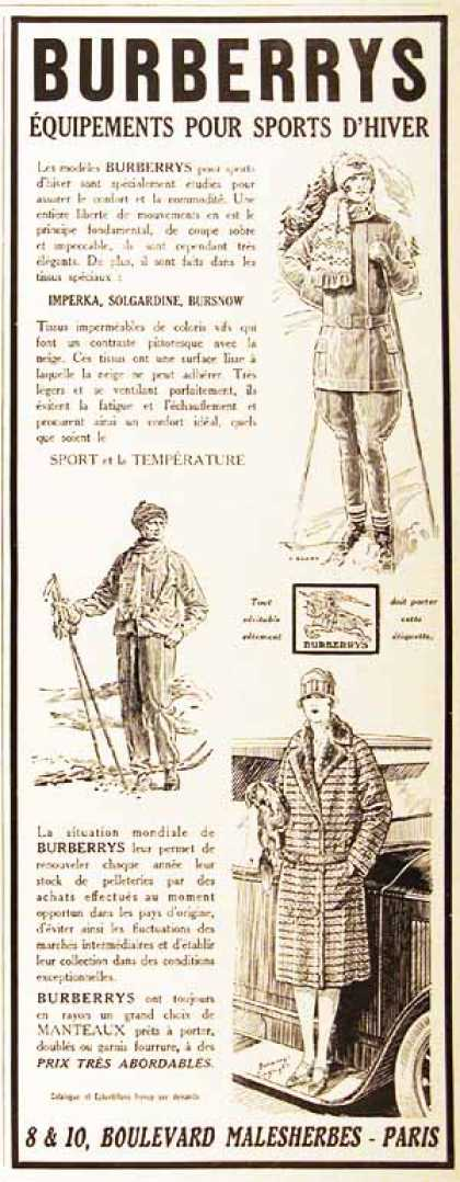 Burberry's Winter Fashion (1926)