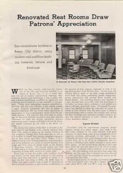"""Renovated Rest Rooms ...""Article/eri (1939)"