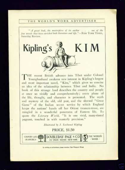 Rare Kipling&#8217;s Kim Book (1904)