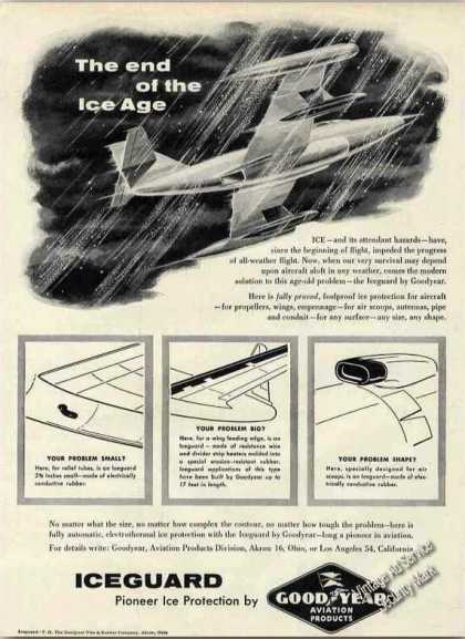 Iceguard Airplane Protection Goodyear Aviation (1956)