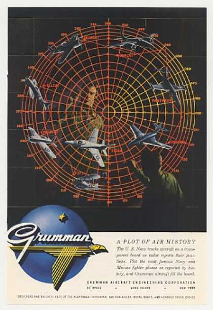 Grumman Aircraft Navy Radar Plot Air History (1955)