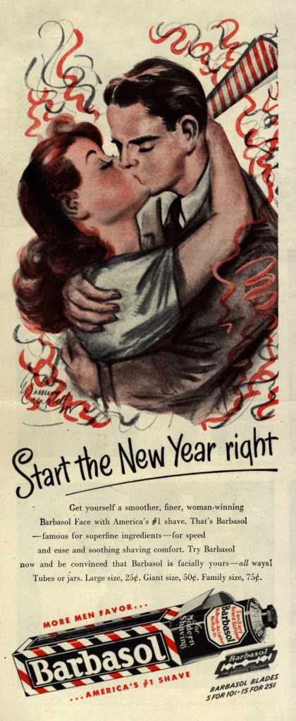Barbasol – Start the New Year right (1945)