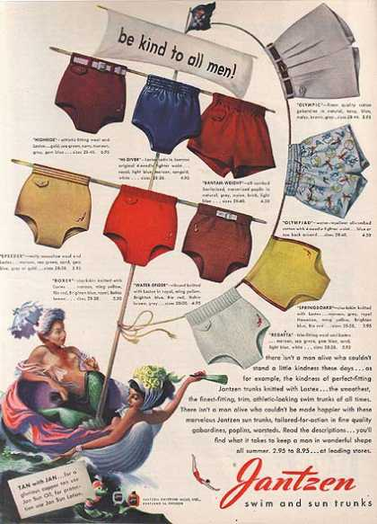 Jantzen's Swim and Sun Trunks for Men (1948)