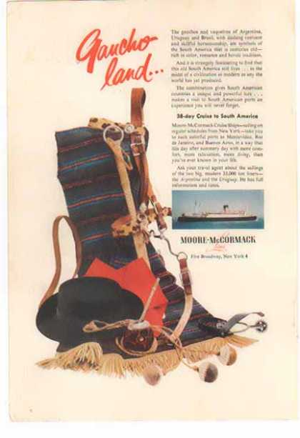 Moore McCormack Lines Cruise -Gaucho Land (1954)