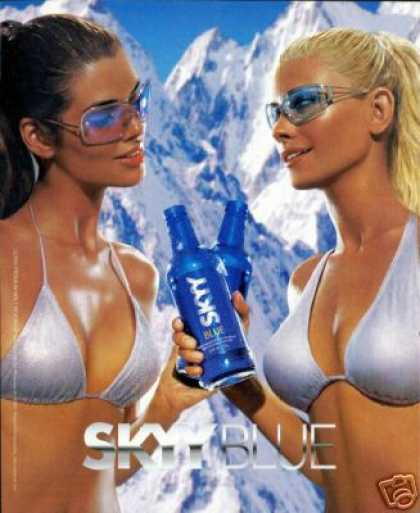 Sexy Women Skyy Blue Malt Beverage (2002)