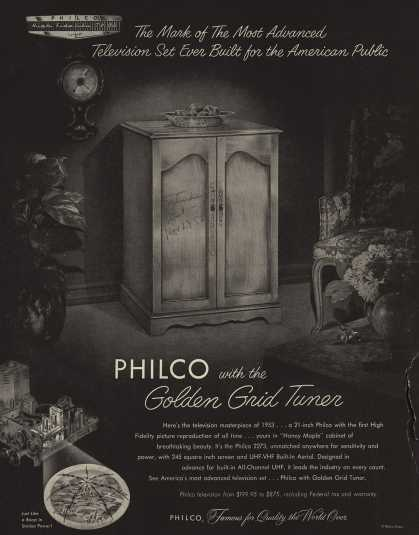 Philco's Television – The Mark of the Most Advanced Television Set Ever Built for the American Public (1952)