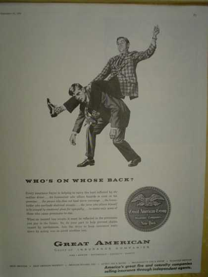 Great American Insurance company. Whose on whose back (1958)