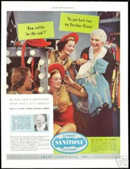 Mistress of Wardrobe Showgirls Sanitone Cleaner (1938)