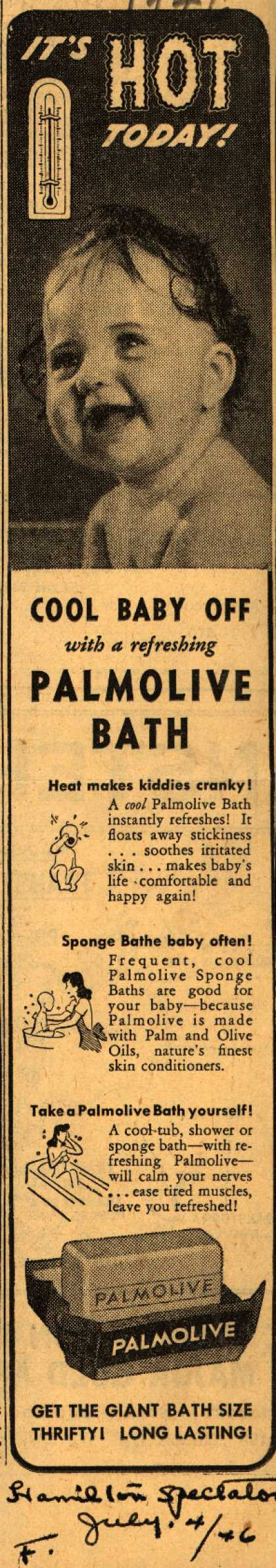 Palmolive Company's Palmolive Soap – It's HOT Today (1946)