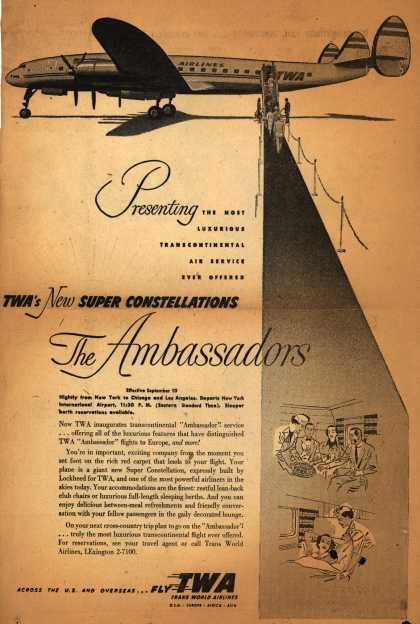 Trans World Airline's Ambassadors – Presenting... TWA's New Super Constellations, The Ambassadors (1952)
