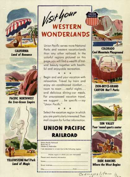 Union Pacific Railroad's Western Vacation Travel – Visit your Western Wonderlands (1947)