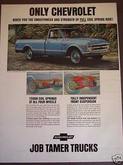 Chevrolet Job Tamer Pickup Trucks Blue Pick-up (1968)