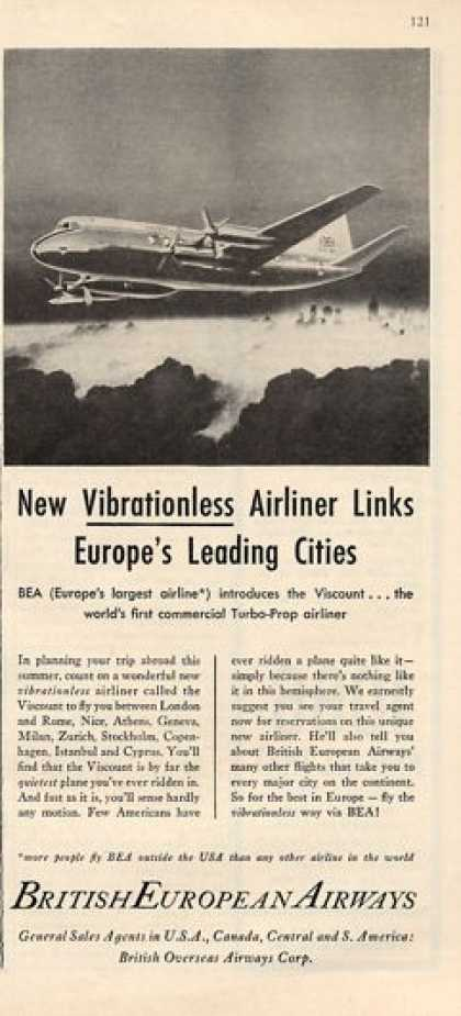 British European Airways Turbo Prop Plane (1953)