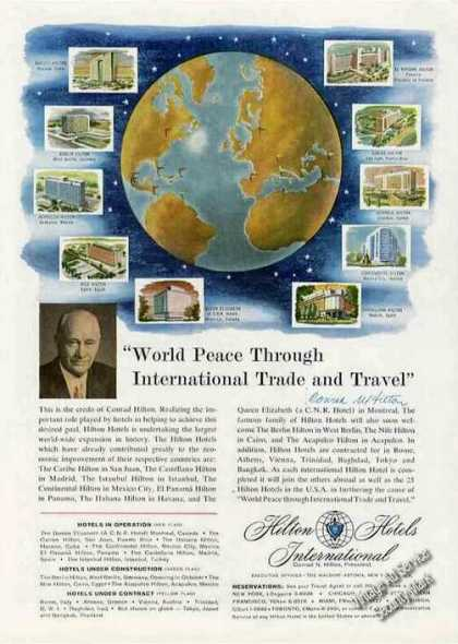 """World Peace International Travel"" Hilton (1958)"
