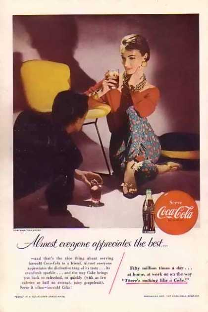 Coke Almost everyone appreciates the best (1955)